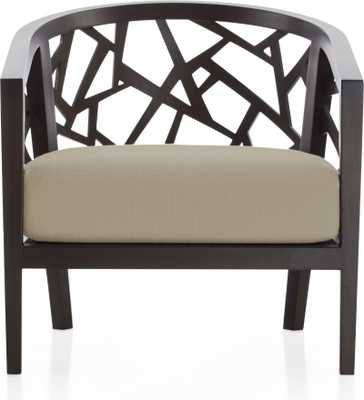 Ankara Truffle Frame Chair withFabric Cushion - Natural - Crate and Barrel