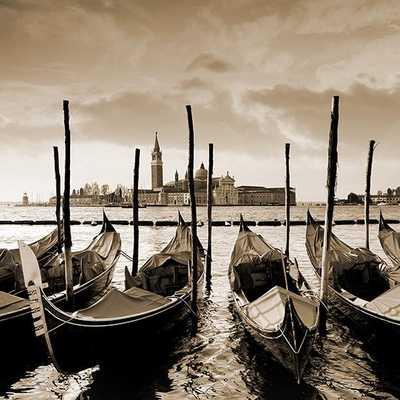 "Dimanche Venice VII -22"" square x 2""D.-framed - Home Decorators"