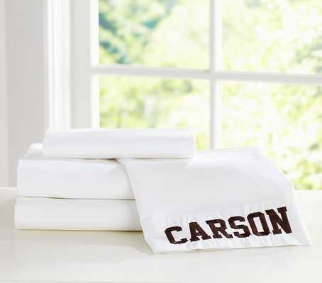 Organic Cotton Extra Pillowcase - White - Pottery Barn Kids