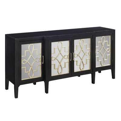 Manry Mirrored Sideboard - Black - Wayfair