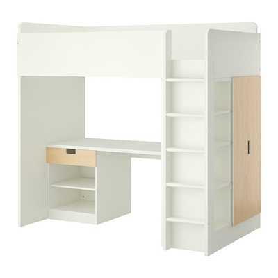 STUVA Loft bed with 1 drawer/2 doors - Ikea