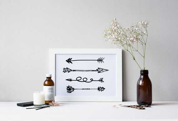 PRINTABLE Art Tribal Arrows Art Print  - 8 inches x 10 inches - Unframed - Etsy