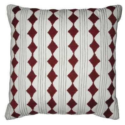 "Diamond Cord Work Pillow White 18""x18"" - Nate Berkus â""¢ - Target"