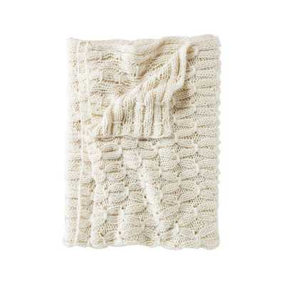 Toggle Knit Throw - Domino