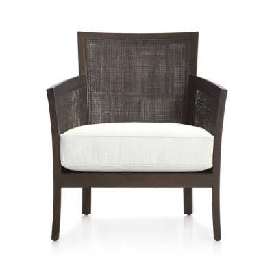 Blake Carbon Grey Chair with Fabric Cushion - Snow - Crate and Barrel