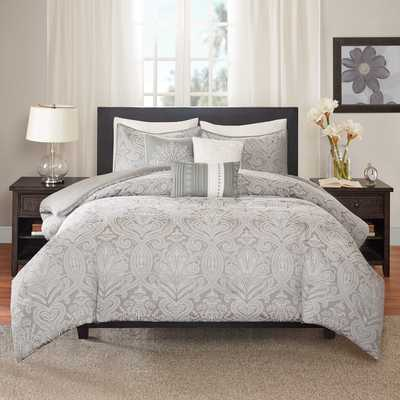 Madison Park Finley 6-Piece Duvet Cover Set-Full/Queen - Overstock