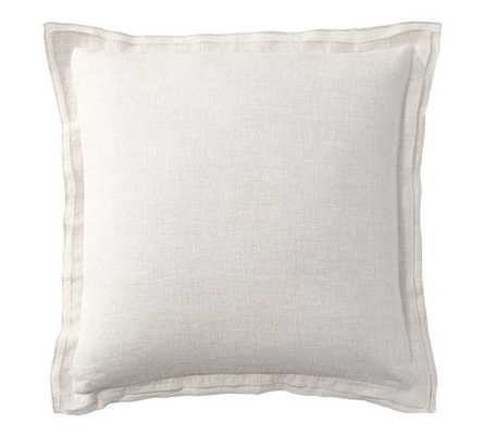 "BELGIAN FLAX LINEN FLANGE PILLOW COVER - 18"" sq - Insert sold separately - Pottery Barn"