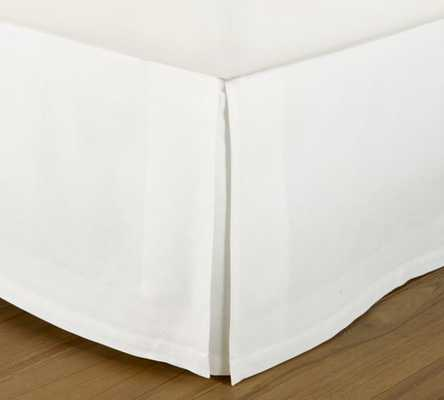 "Havenly Recommended Basic: White Bedskirt with 18"" Drop - California King - Pottery Barn"