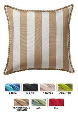 "20"" SQUARE OUTDOOR THROW PILLOW - with insert - Home Decorators"
