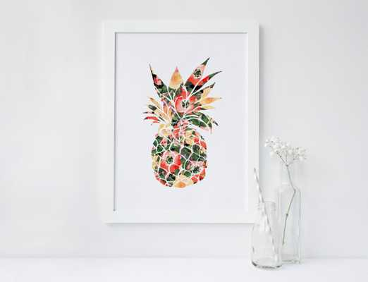 PRINTABLE Art Tropical Pineapple  - 8x10 - Unframed - Etsy