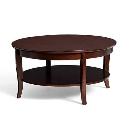 Chloe Round Coffee Table - MAHOGANY STAIN - Pottery Barn