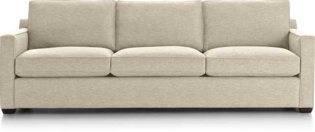 "Davis 3-Seat 103"" Grande Sofa - Bisque - Crate and Barrel"