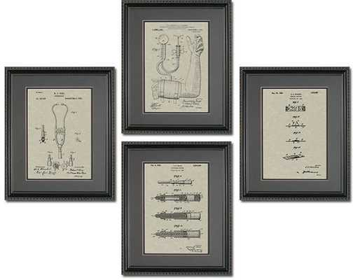 MEDICAL DEVICE PATENTS QUAD FRAME DISPLAY - Patents As Art