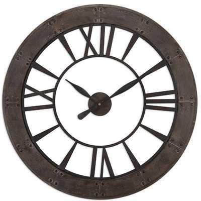 "Ronan Oversized 40"" Wall Clock - Wayfair"