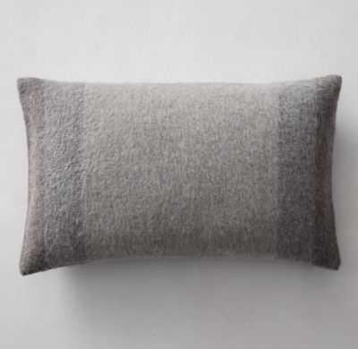 "Alpaca Wide Stripe Pillow Cover - Lumbar - 13"" x 21"" insert sold separately - RH"