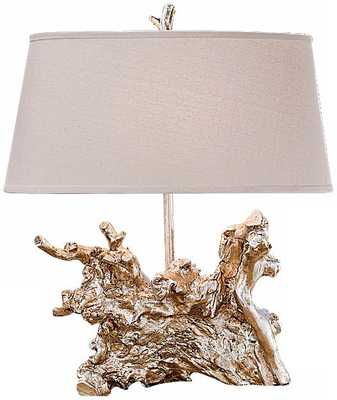 Regina-Andrew Amber Silver Root Lamp - Lamps Plus