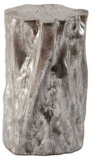 Lumber Cast Resin Stool, Silver - One Kings Lane