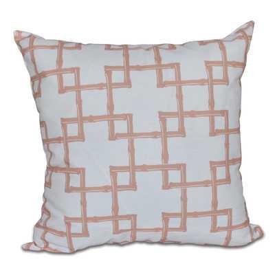 "Botanical Blooms Bamboo 2 Geometric Throw Pillow - 16"" - insert - Wayfair"