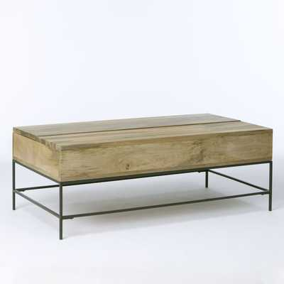 Rustic Storage Coffee Table - large - West Elm