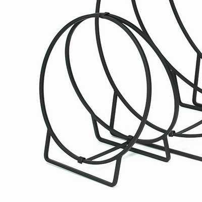 Wrought Iron Wood Hoop - Wayfair