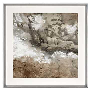 Earthen 1 - 33.5''W x 33.5''H - framed (Silver)- With mat - Z Gallerie