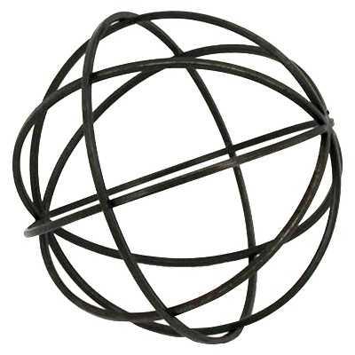"""Tabletop Metal Orb Large (9.84""""x9.65""""x9.84"""") - Target"""