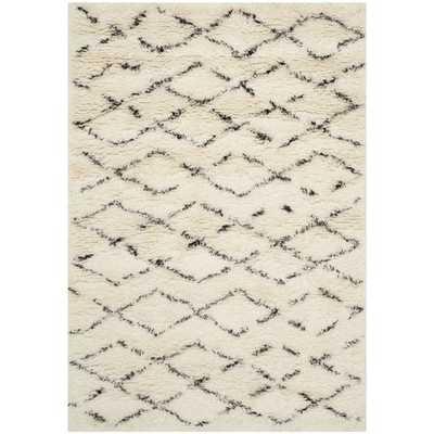 Safavieh Casablanca White / Brown Area Rug- 4' x 6' - Wayfair