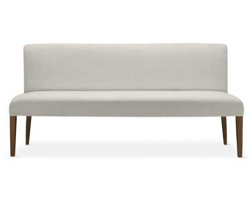 Fitzgerald Bench, Linen/Cotton Weave, Ivory, Mahogany - Williams Sonoma