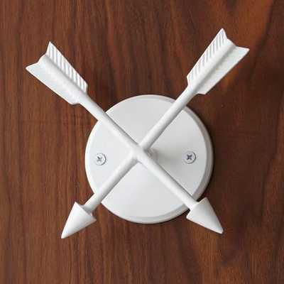 New Heritage Hook, White, Arrows - West Elm