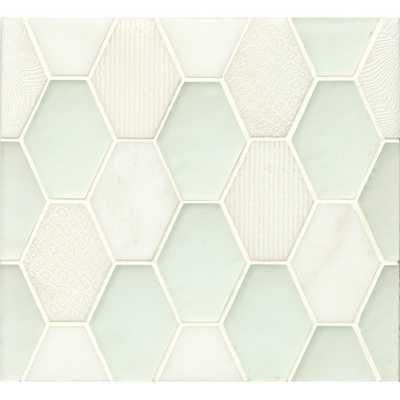 Panache Glass and Stone Mosaic Tile in Silk - Wayfair