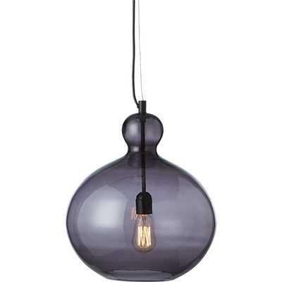 smoke glass pendant light - CB2