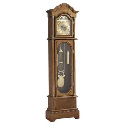 """Daniel Dakota 71.63"""" Grandfather Clock - Mission Oak - Wayfair"""