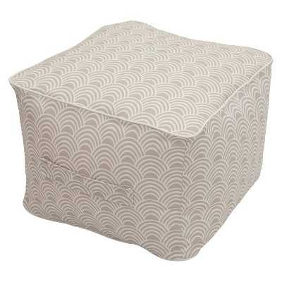 Outdoor Fabric Pouf - Tan - Target