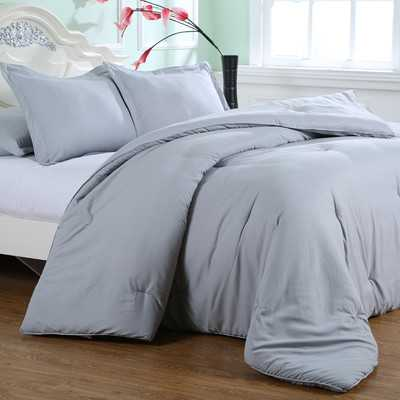 Luxury Embossed Microfiber Comforter Set - Wayfair