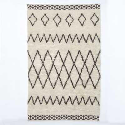 Kasbah Wool Rug - Ivory - 5' x 8' - West Elm