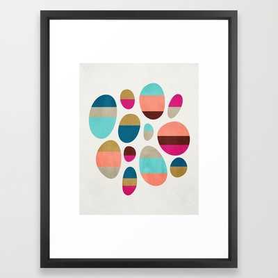 Color-Blocked Pebbles #1 - Framed - Society6