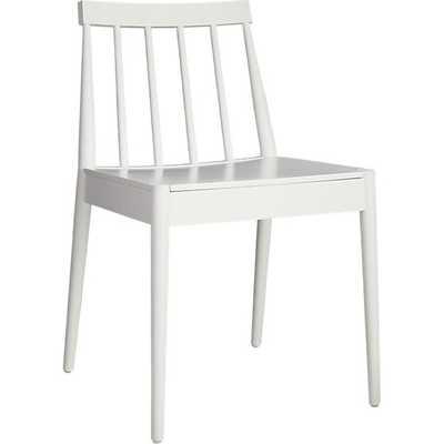 Hemstad white chair - CB2