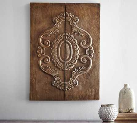 Carved Wood Plank Art - Pottery Barn