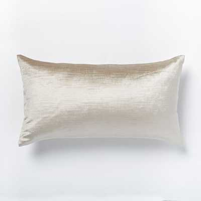 """Luster Velvet Pillow Cover - 12""""w x 21""""l - no insert - West Elm"""