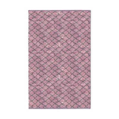 Watercolor Trellis Wool Shag Rug - Sorbet - West Elm