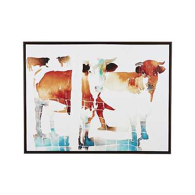 """French Cow Print-50""""Wx2.25""""Dx38""""H-Framed - Crate and Barrel"""