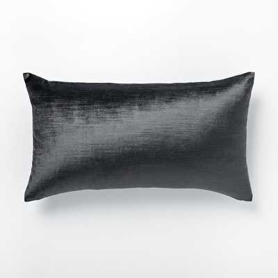Luster Velvet Pillow Cover - 12x21, No Insert - West Elm