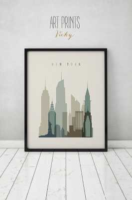 New York print-24x36-Unframed - Etsy