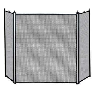 Uniflame 3-Fold Black Fireplace Screen - Overstock