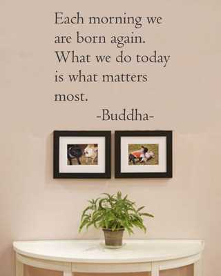 Buddha Vinyl wall art Inspirational quotes and saying home decor decal sticker - Amazon