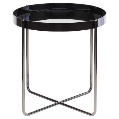 RADIUS END TABLE IN BLACK - Dwell Studio