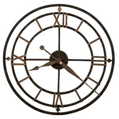 "Designer Choice York Station 21.25"" Wall Clock - Wayfair"