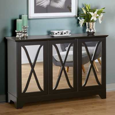 Simple Living Reflections Black Buffet/ Console - Overstock