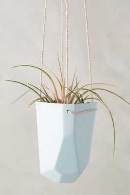 Crystal-Cut Hanging Planter - Wide - Anthropologie