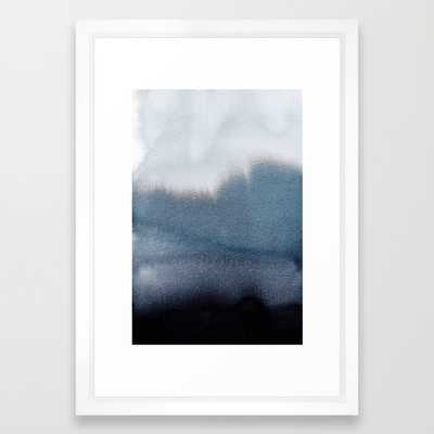 "In Blue-FRAMED ART PRINT/ VECTOR WHITE SMALL (15"" X 21"") - Society6"